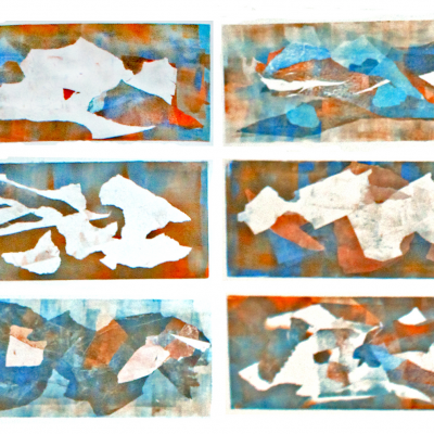 Series of 12 Monotypes, 2015.
