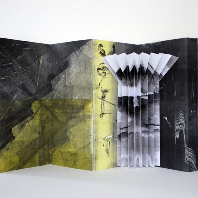 23x10.5 monotypes assembled into a concertina structure, 2013