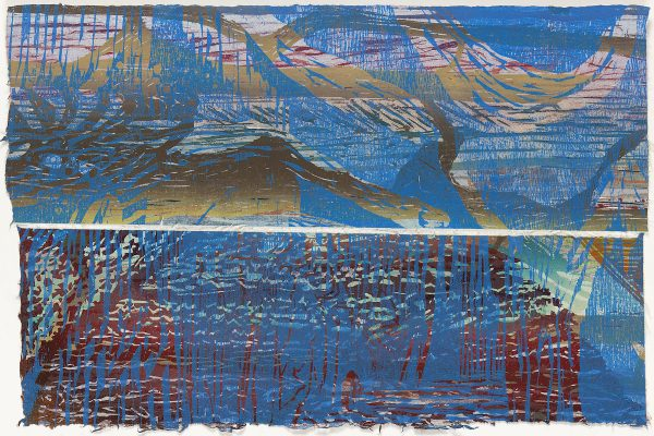 "Cathie Crawford, ""Dianoia III,"" woodcut monoprint diptych"