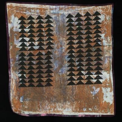 32 x 33 Quilt: silkscreen, breakdown printing, 2014