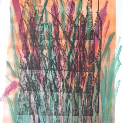 18 x 24, monoprint, 2014