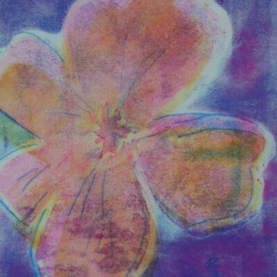 8 x 5 Stencil and Trace Monotype, 2021