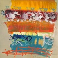 National Prize Show  18x24 monotype, 2015