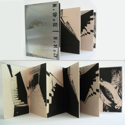 40 x 7 Artist book: monoprints with aluminum covers, 2013.