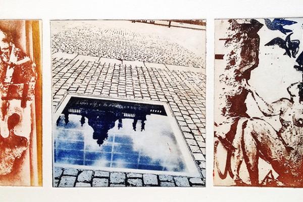 Monoprint Triptych, 2012.