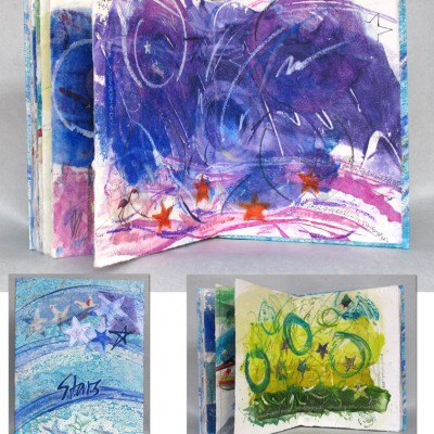 book of encaustic monotypes, 2012.