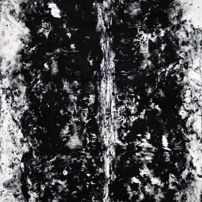 "23"" x 30"" monotype using human body textural mark-making, 2015."