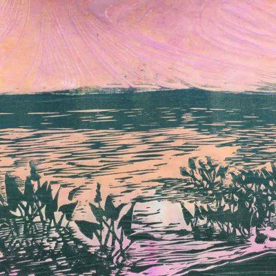 Monotype on Rice Paper 12 x 9, 2018