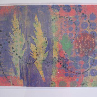24 x 18 clay monoprint. 2014