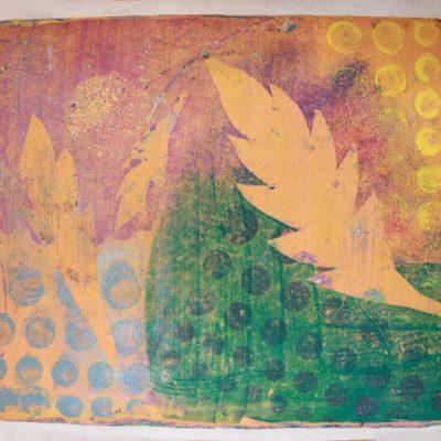 19.5 x 15, clay monoprint, 2014