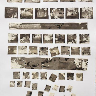 29x36 monotype on velum/collage, 2018