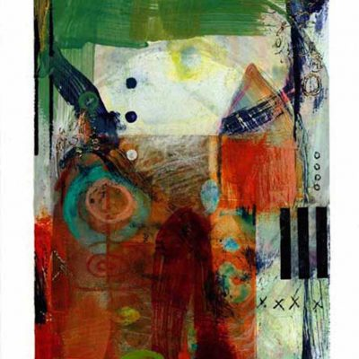 16 x 20 monotype with encaustic, 2015
