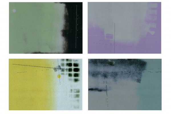"Patricia deGrandpre, ""No matter how you slice it (sliver),"" monoprint"