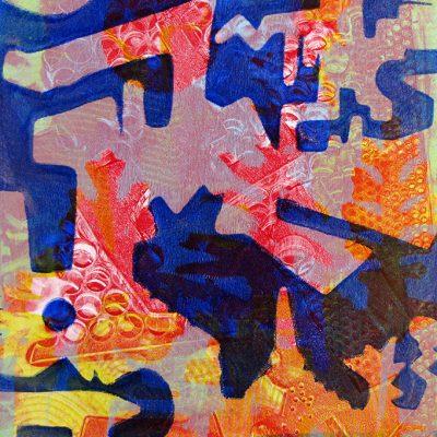 15x22 gelatin plate monotype, 2015