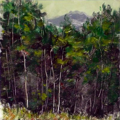 7.75 x 7.75 Plein Air Oil Monotype, 2008