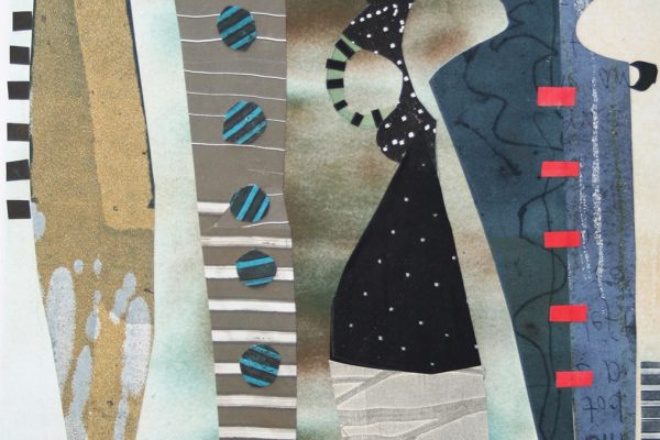 "Linda Batchelor, ""Quartet"" (monotype collage)"