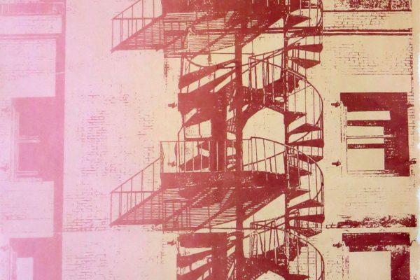 """Sandra Cardillo, """"Spiral Escape 3"""" (monoprint)"""