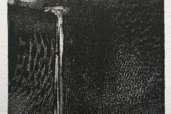 "Clive Knights, ""Falls at Dawn"" (monotype)"