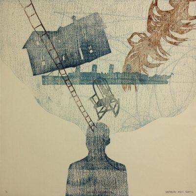 12 x 12 Monoprint (Pochoir), 2014