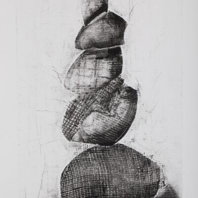 19 x 12 Collograph, Monoprint, 2020