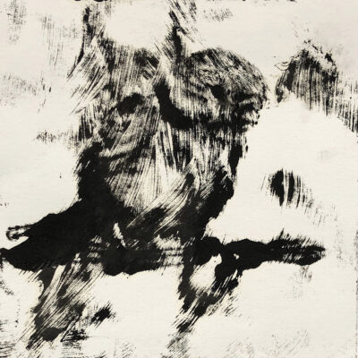5 x 15 Oil on Paper Monotype, 2020
