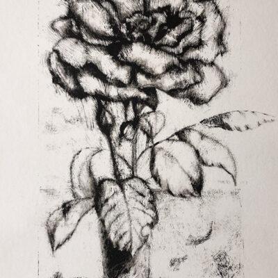 9 x 5 Oil on Paper Monotype, 2020