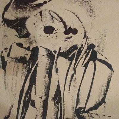 7 x 5 Acrylic Monotype on Paper, 2021